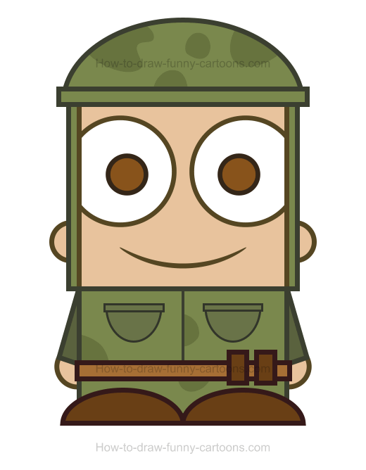 How To Draw A Soldier Clipart