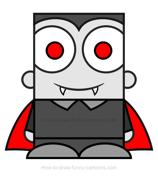 How To Draw A Vampire Clipart